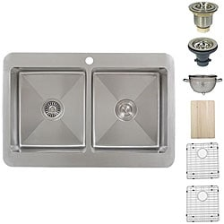 Ticor Royale Stainless Steel 16-gauge Overmount Kitchen Sink