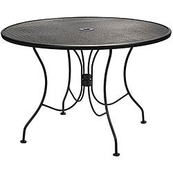 Mesh 44 inch round outdoor charcoal dining table for 44 inch round dining table
