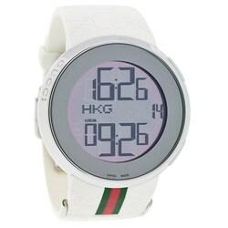 Gucci Men's ya114214 Digital Rubber Strap Watch