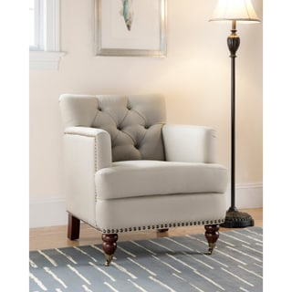 Safavieh Colin Taupe Cotton Tufted Club Chair