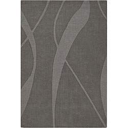 Hand-tufted Jaira Grey Wool Rug (5' x 7')