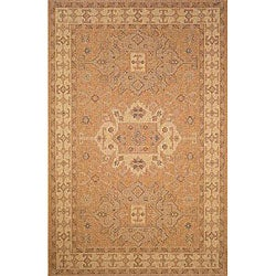 Medallion Oatmeal Outdoor Rug (3'3 x 4'11)