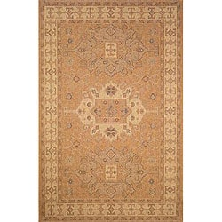 Medallion Oatmeal Outdoor Rug (7'10 x 9'10)