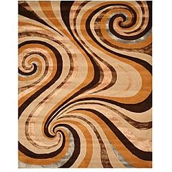 Hand-tufted Capri Gold Wool Rug (7'9 x 9'9)