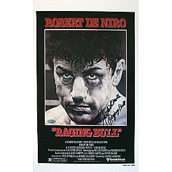 Jake LaMotta Raging Bull Autographed Movie Poster