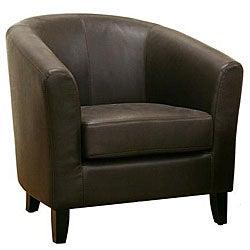 Frederick Dark Brown Leather Club Chair