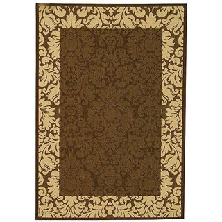 Indoor/ Outdoor Kaii Chocolate/ Natural Rug (2'7 x 5')