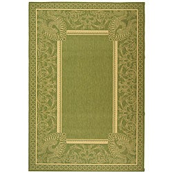 Indoor/ Outdoor Abaco Olive/ Natural Rug (9' x 12')