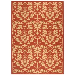 Indoor/ Outdoor Seaview Red/ Natural Rug (7'10' x 11')