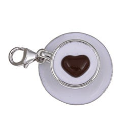 Sterling Essentials Sterling Silver 'Love Lattes' Charm