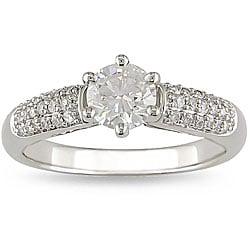 Miadora 14k White Gold 1ct TDW Diamond Engagement Ring (H-I, I1-I2)