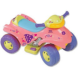 Pink 4x4 Battery-operated Ride-On ATV