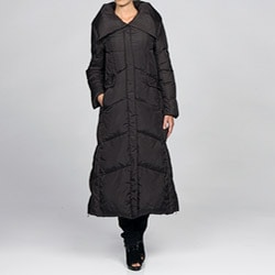 Cole Haan Women's Full Length Down Coat - Overstock Shopping - Top