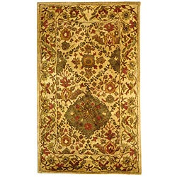 Safavieh Handmade Tabriz Beige/ Olive Wool Rug (2'3 x 4')