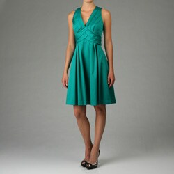 Calvin Klein Women's Shutter Pleat Dress