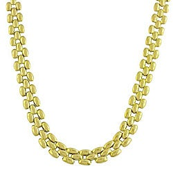 10k Yellow Gold 16-inch Polished Designer Chain Necklace (8 mm)