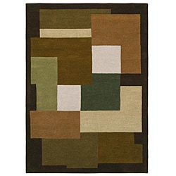 Hand-tufted Geometric Multi Wool Rug (8' x 11')