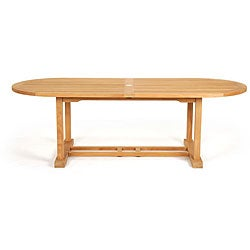 Teak 94-inch Oval Patio Table