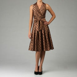 Jessica Howard Women's Polka Dot Shantique Dress