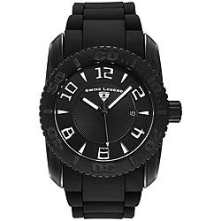 Swiss Legend Men's Commander Black Silicone Watch