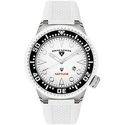 Swiss Legend Men's Neptune White Silicone Watch
