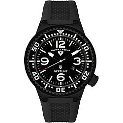 Swiss Legend Men's Neptune Black Silicone Watch