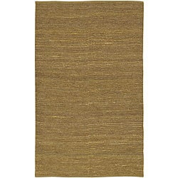 Set of 2 Hand-woven Chapra Gold Jute Rugs (2' x 3')