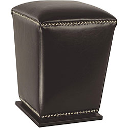 Safavieh Mason Brown Bi-cast Leather Ottoman
