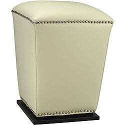 Safavieh Mason Off White Bi-cast Leather Ottoman