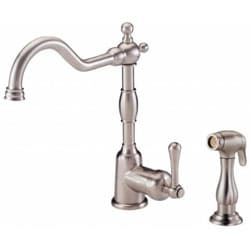 Danze Opulence Single-handle Stainless Steel Kitchen Faucet with Spray