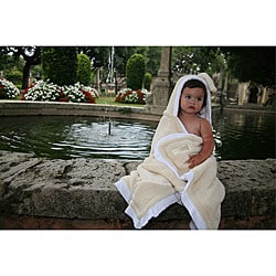 Mia Belle Baby Creme Brule Hooded Bath Towel