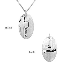 Sterling Silver Abstract Cross Necklace