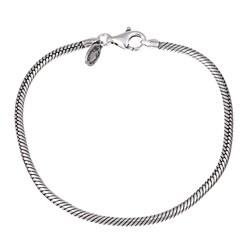 Sterling Essentials Sterling Silver 8.75-inch Bead Charm Bracelet (3 mm)