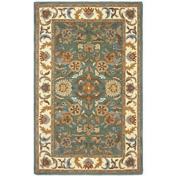 Hand-tufted Agra Green New Zealand Wool Rug (8' x 11')