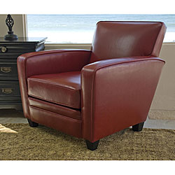 Bradley Crimson Leather Club Chair