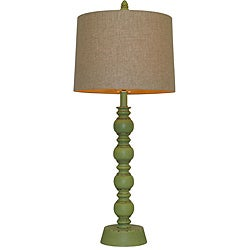 Luisito Green Wood Table Lamp