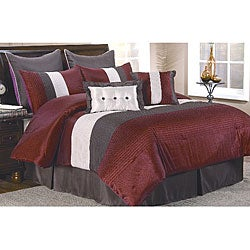 Veneto Burgundy/ Chocolate 8-piece Comforter Set