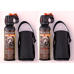 Advanced Products 10.2-oz Assault Bear Deterrent and Holsters (Pack of 2)