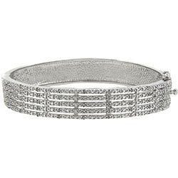 Sterling Silver 1/2ct TDW Diamond 5-row Bangle Bracelet