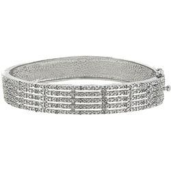 Sterling Silver 1/2ct TDW Diamond 5-row Bangle Bracelet (J-K, I3)