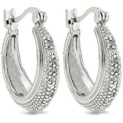 Sterling Silver 1/4ct TDW Diamond Hoop Earrings (J-K, I3)