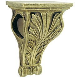 Wood Collection Lotus Drapery Sconce