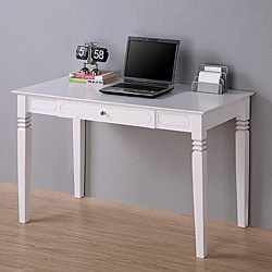 White Wood Computer Desk