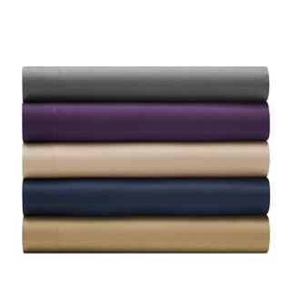 Perry Ellis Solid or Paisley Microfiber Wrinkle Free 4-piece Sheet Set