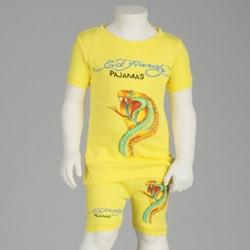 Ed Hardy Girl's 2-piece Snake Print Pajama Set
