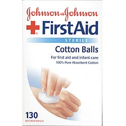 Johnson&#39;s First Aid Sterile Cotton Balls 130-count Boxes (Pack of 3)