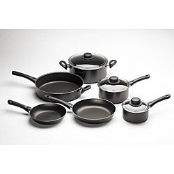 Bialetti Fusion 9-Piece Black Cookware Set