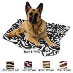 Zebra Print 50x50-inch Pet Throw