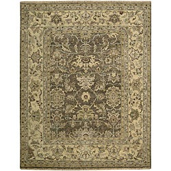 Nourison Hand-knotted Tajik Brown Wool Rug (8'6 x 11'6)