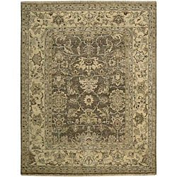 Hand-knotted Manchester Brown Wool Rug (8'6 x 11'6)